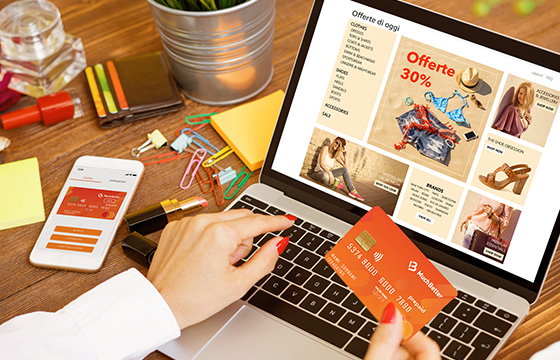 Online shopping card phone